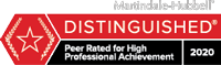 Martindale-Hubbell Distinguished Peer Rated for High Professional Achievement 2020